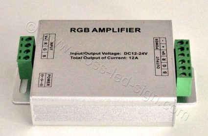 Υλικά επιγραφών led RGB led amplifier, πλάγια όψη.