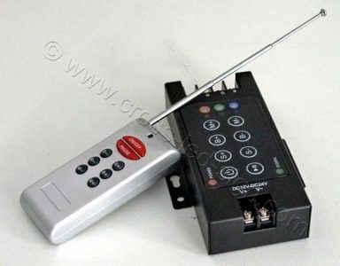 RGB led controller 12-24V 3x4A, ανάπτυξη κεραίας RF τηλεχειριστηρίου.