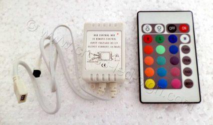 Υλικά επιγραφών led RGB led controller 12V 3x2A.