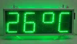 Επιγραφή ρολόι led 69 x 27, πολύ φωτεινή ένδειξη θερμοκρασίας.