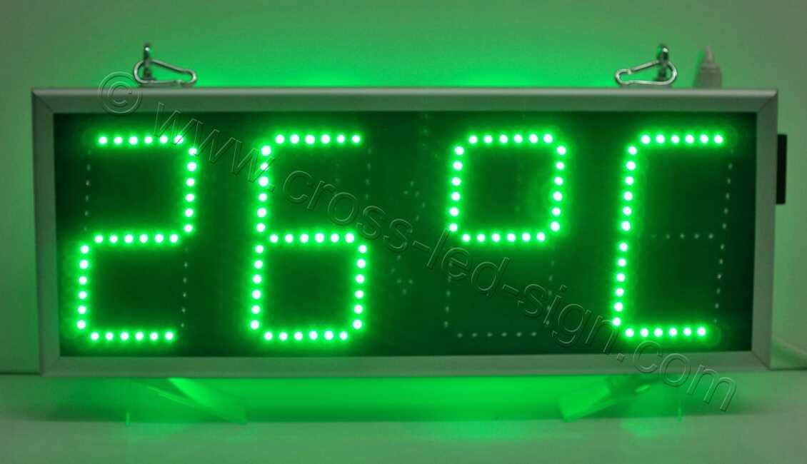Ρολόγια led 69Χ27, πολύ φωτεινή ένδειξη θερμοκρασίας.