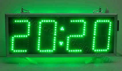 Ηλεκτρονικές επιγραφές ρολόγια led 69 x27, πολύ φωτεινή ένδειξη ώρας.