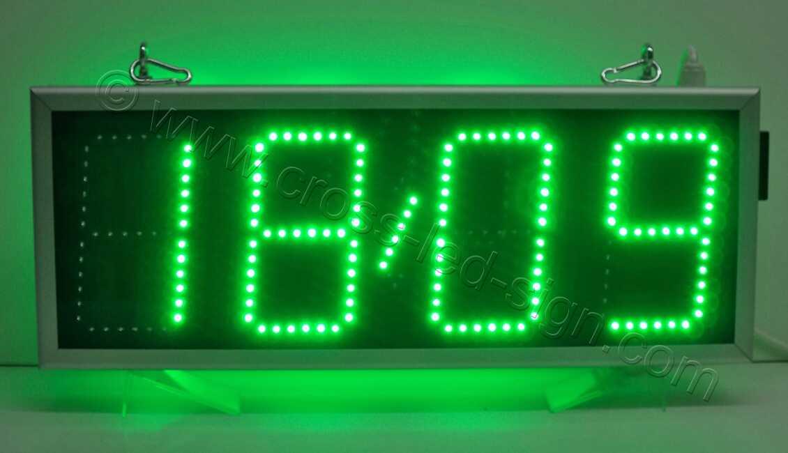Ρολόγια led 69Χ27, πολύ φωτεινή ένδειξη ημερομηνίας.