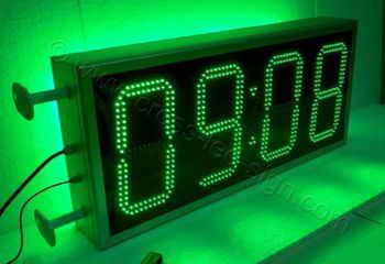 Ηλεκτρονικά ρολόγια led 100x45 εκατοστά με πράσινα led.