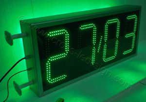 Ρολόι μεγάλο 100x45 εκατοστών με ένδειξη ημερομηνίας, διπλή σειρά led.