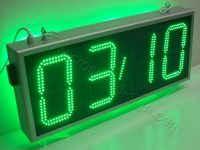 Επιγραφή ρολόι led μεγάλο 85 x 38 εκατοστά, ένδειξη θερμοκρασίας.