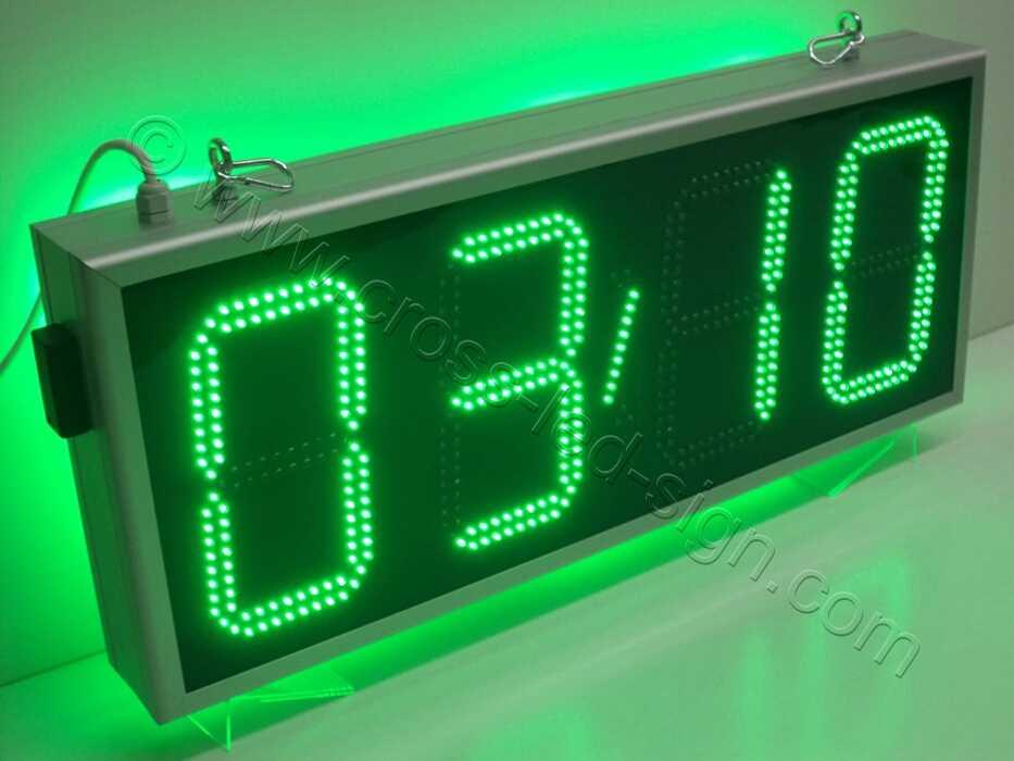 Ρολόι led μεγάλο 85Χ38 εκατοστά, ένδειξη θερμοκρασίας.
