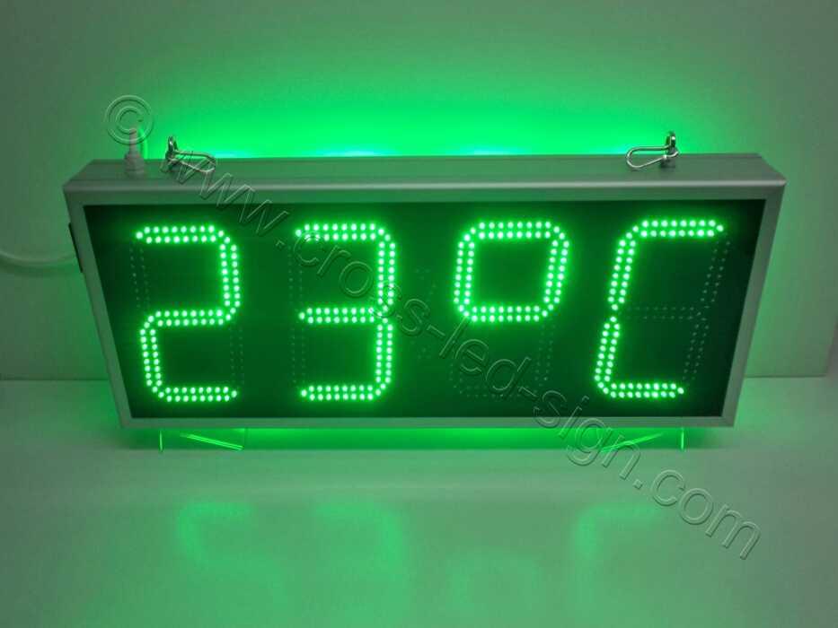 Επιγραφή ρολόι led 85Χ38, ένδειξη θερμοκρασίας.