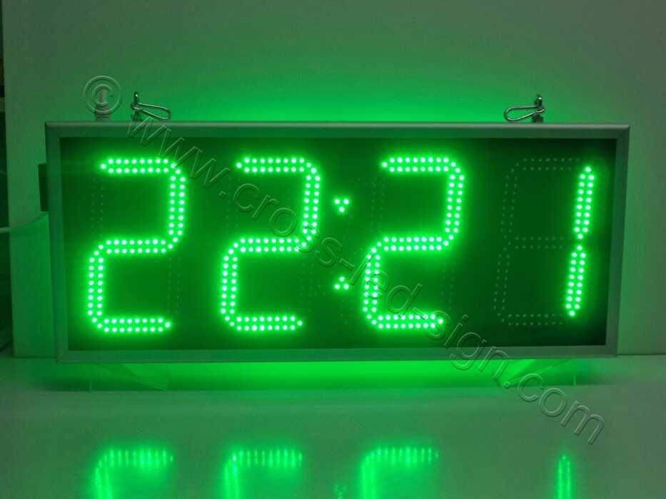 Ρολόι led μεγάλο 85Χ38, φωτεινή ένδειξη ώρας.