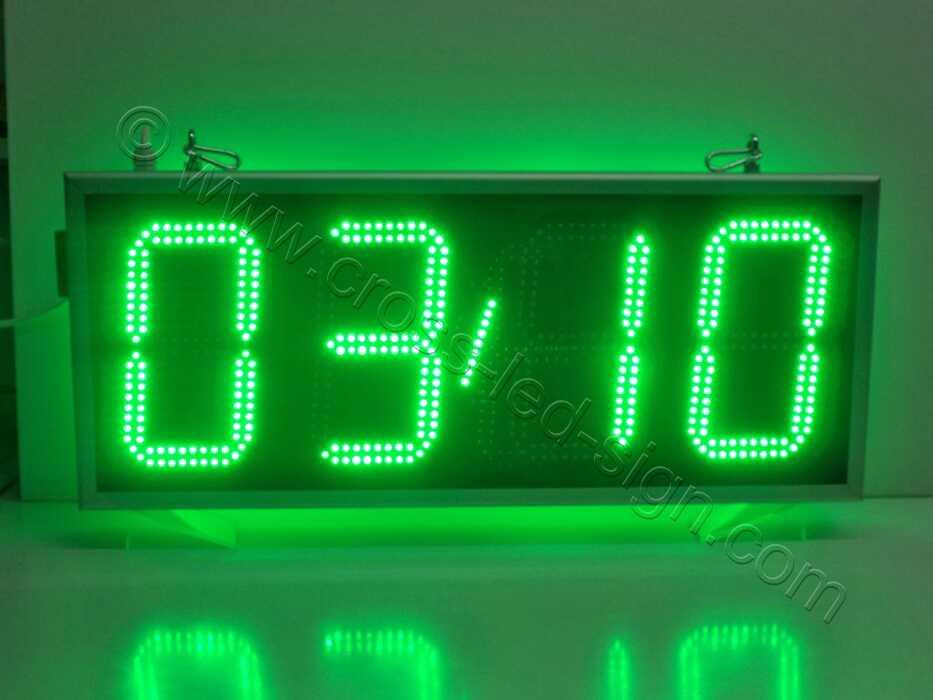 Ρολόι led μεγάλο 85Χ38, φωτεινή ένδειξη ημερομηνίας.