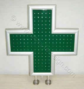 Σταυρός φαρμακείου LED 70 εκατοστών σβηστός.