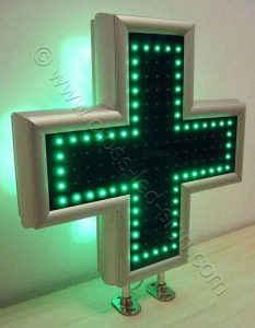 Εξωτερική σειρά LED σταυρού φαρμακείου 70 εκ.
