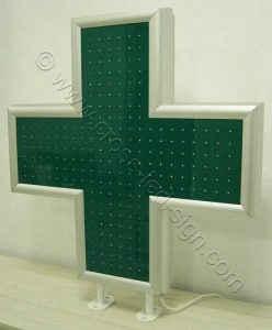 Σταυρός φαρμακείου LED 90 εκατοστών, σβηστός.