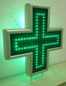 Κεντρική σειρά led σταυρού φαρμακείου 90 εκατοστών.