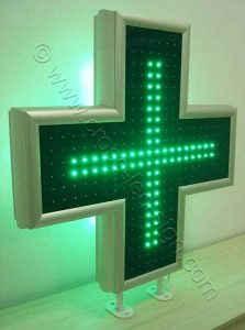 Εσωτερική σειρά led σταυρού φαρμακείου 90 εκατοστών.