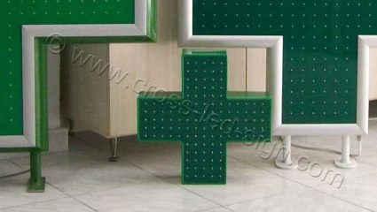 Μικροί σταυροί φαρμακείου led μικρών διαστάσεων κατά παραγγελία πελάτη.
