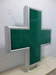 Σταυρός φαρμακείου 100 cm με όλα τα LED σβηστά.