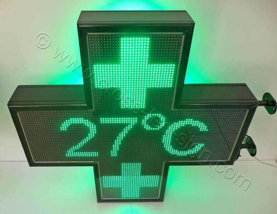 Σταυρός φαρμακείου 3d Matrix 103X103 εκ. θερμόμετρο.