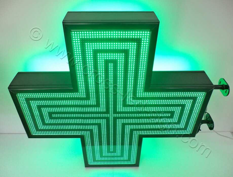 Σταυρός φαρμακείου 3d Matrix 103X103 εκ. με ένδειξη, 4 στεφάνια.
