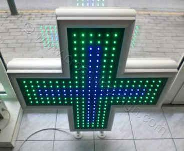 Σταυροί φαρμακείων με μπλε κεντρική σειρά led, χαμηλή τιμή.
