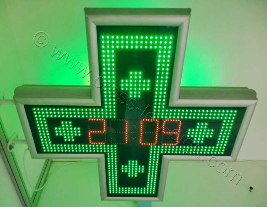 Σταυρός φαρμακείου, ένδειξη ημερομηνίας. Πρόσθια άνω λήψη.