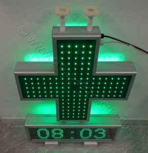Σταυρός φαρμακείου 70 cm, set ηλεκτρονική επιγραφή led.