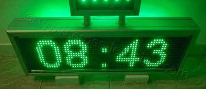 Σταυρός φαρμακείου set 70 με ηλεκτρονική επιγραφή και ένδειξη ώρας.