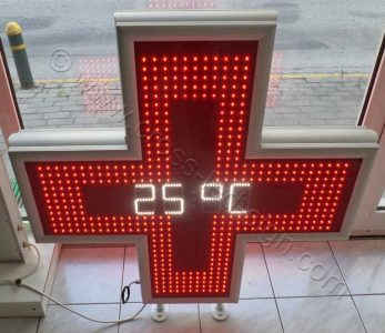 Κόκκινος σταυρός ιατρείων Model : LC100TDT - Red, ένδειξη θερμοκρασίας.