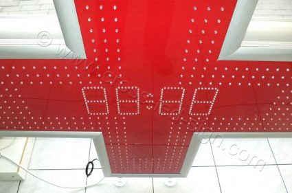 Σταυρός κόκκινος LC100TDT - Red, υψηλής φωτεινότητας led 5 χιλιοστών.