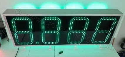 Πινακίδα για βενζινάδικο 150 x 55 εκατοστών με διπλή σειρά πράσινα led.