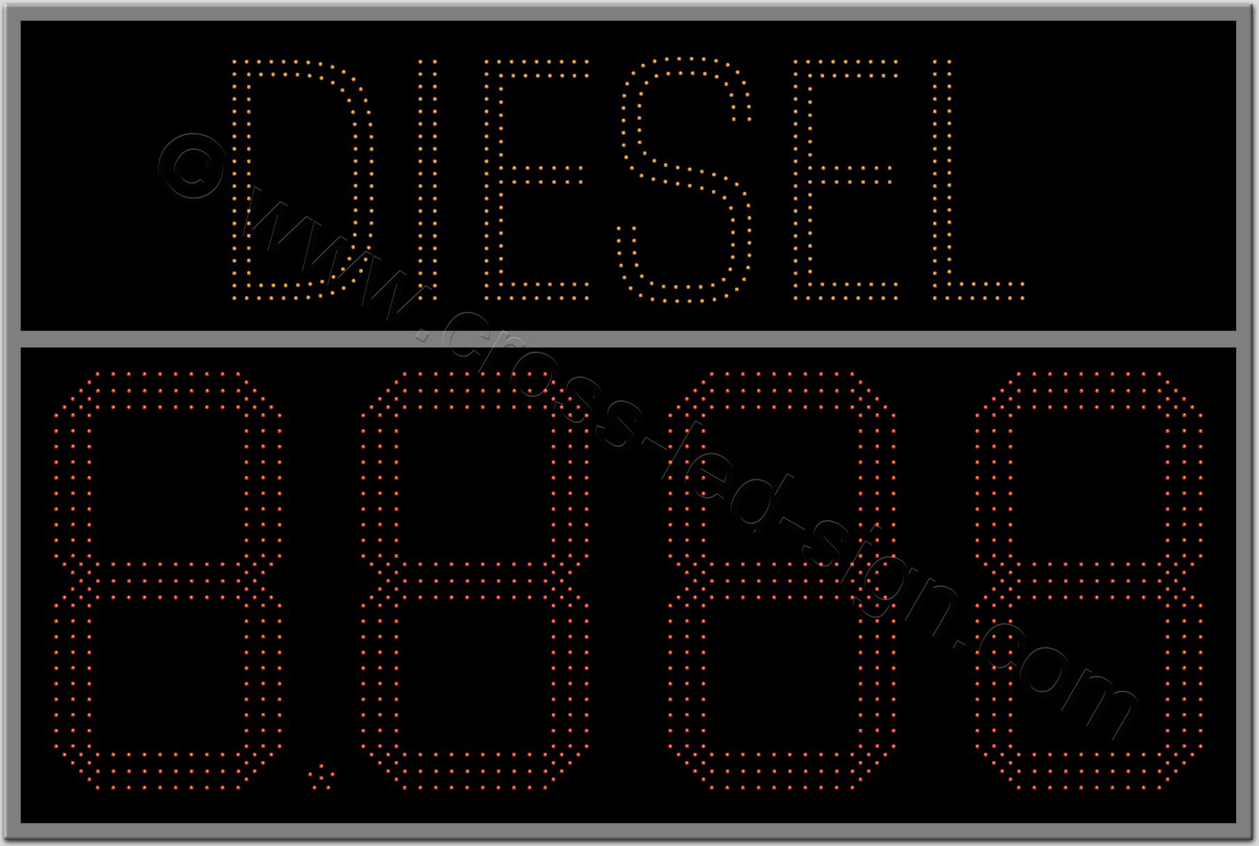 Ταμπέλα diesel βενζινάδικο led - 150x100.