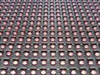 Η διάταξη των led της επιγραφής 128x16 εκατοστών, είναι ανά 10 χιλιοστά από κέντρο σε κέντρο led.