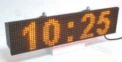 Ηλεκτρονική ταμπέλα επιγραφή led 64x16 εκατοστά με ένδειξη ώρας.