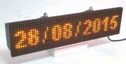 Ταμπέλες led μαγαζιών σε διάσταση 64 x 16 εκατοστά με ένδειξη ημερομηνίας.