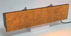 Ηλεκτρονική ταμπέλα επιγραφή led 64x16 εκατοστά με ένδειξη όλα τα led αναμμένα.