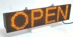 Ηλεκτρονική ταμπέλα επιγραφή led 64x16 εκατοστά με ένδειξη OPEN.