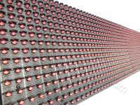 Η ταμπέλα led 96 x 16 εκατοστών, έχει διάταξη led ανά 10 χιλιοστά, από κέντρο σε κέντρο led.