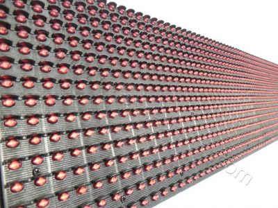 Όλες οι ταμπέλες led display 96x16 εκατοστών, έχουν διάταξη led ανά 10 χιλιοστά, από κέντρο σε κέντρο led.