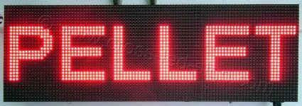 Ταμπέλα led 96 x 32 εκατοστά, με ένδειξη πέλλετ.