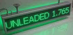 Πινακίδες βενζινάδικων led 103 x 23 με ένδειξη unleaded.
