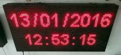 Ταμπέλες επιγραφές led 96x48 με ένδειξη ημερομηνία και ώρα.