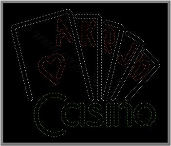 Ταμπέλες καταστημάτων led casino 1w.