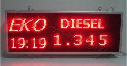 Πινακίδα βενζινάδικου led κυλιόμενου κειμένου diesel.
