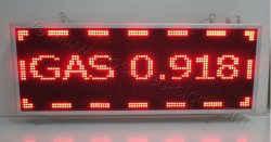 Πινακίδα βενζινάδικου led κυλιόμενου κειμένου GAS τιμή.