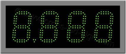 Πινακίδα ψηφίων led βενζινάδικου 48 x 20 εκ. με διπλή σειρά led.