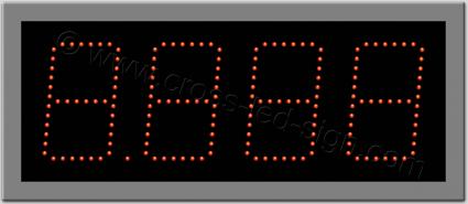 Ταμπέλα ψηφίων led βενζινάδικου 48 Χ 20 εκ. Μονή σειρά led.