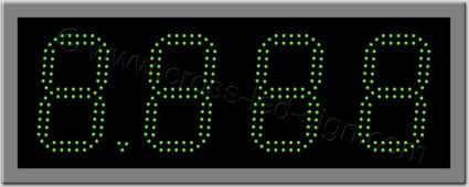 Ταμπέλα ψηφίων led βενζινάδικου 60 Χ 23 εκ. Διπλή σειρά led.