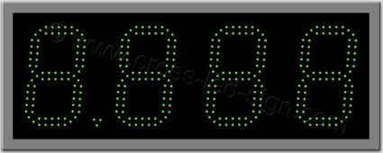 Πινακίδα ψηφίων led βενζινάδικου 68 x 26 εκ. με διπλή σειρά led.