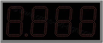 Ταμπέλα ψηφίων led βενζινάδικου 91 Χ 37 εκ. Διπλή σειρά led.