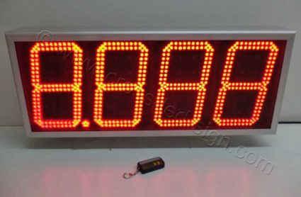 Πινακίδα για βενζινάδικο led ψηφία διπλής σειράς.